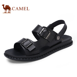 骆驼牌男鞋 2017夏季新品日常时尚休闲露趾凉鞋清凉沙滩鞋男