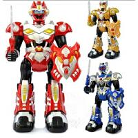 欢乐童年 铠甲勇士玩具人偶拿瓦儿童刑天铠甲红外线遥控机器人男孩礼物跳舞