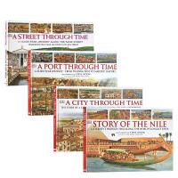 【全店300减100】DK穿越时空百科全书4册合售Through Time Serise 4books 穿越时空的尼罗河