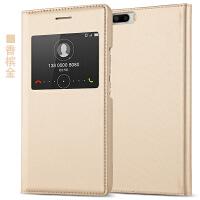 华为荣耀6plus手机皮套pe-tl10保护壳puls翻盖20智能cloo男女款pIus 土豪金 智能开窗