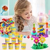 正品糖果世界 3d彩泥旋风机模具 DIY儿童益智玩具橡皮泥