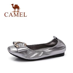 Camel/骆驼女鞋 春季新款女鞋圆头平底鞋浅口单鞋女平跟鞋子