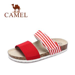 Camel/骆驼女鞋 夏季新品 休闲舒适女拖鞋 沙滩简约拖鞋