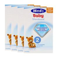 【四盒装】荷兰美素(Hero Baby)奶粉2段(6-10个月宝宝)800g*4  保税区直发