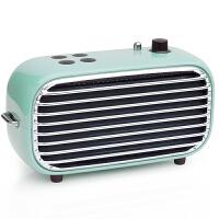 洛斐 毒奏蓝牙音箱迷你低音炮 便携户外复古收音机 手机无线家用小音响 蓝色