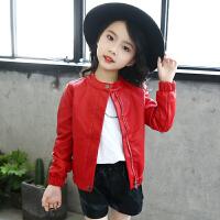 女童秋装皮衣外套小学生女孩儿童夹克