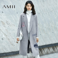 AMII[极简主义]100 羊毛双面呢大衣冬装新款外套女11694685