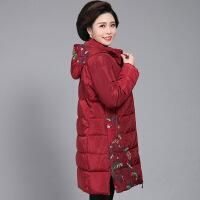 妈妈冬装棉衣中长款加厚中老年女装羽绒棉袄中年冬季外套洋气