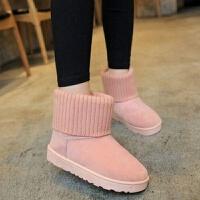 雪地靴女款学生可爱棉鞋加绒加厚韩版女鞋冬季新款短靴平底女靴子