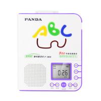 PANDA/熊�F-365英�Z�妥x�C�S身�磁�Рシ�C初中小�W生�和�放磁�У匿�音U�Pmp3插卡可充�正品播放器旗�款 紫色