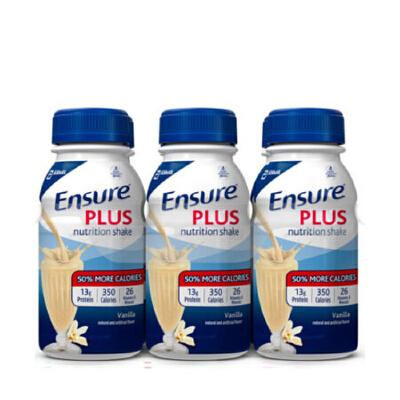 美国直邮 Abbott雅培 Ensure蛋白成人营养液复合液体安素 含糖237ml*6瓶 香草味 海外购 保健食品不具有疾病预防、治疗功能,本品不能代替药物