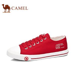 骆驼牌 女鞋 舒适帆布鞋女平跟系带韩版休闲布鞋平底板鞋