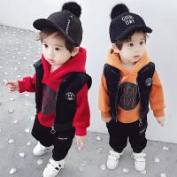 男童套装三件套儿童宝宝秋冬装