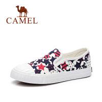 Camel/骆驼女鞋 春夏新款 韩版小清新休闲舒适透气帆布鞋