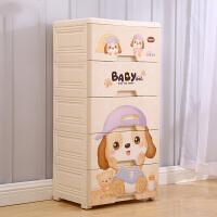 门扉 收纳柜 创意可爱卡通塑料五层抽屉式宝宝衣物整理柜子儿童玩具杂物箱家居日用多功能整理收纳柜子