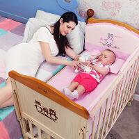 呵宝 婴儿床 实木无漆儿童床多功能宝宝床bb床游戏床