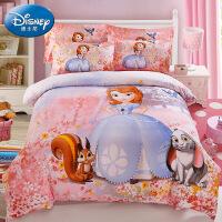 旗舰 2019网红新款 卡通四件套女孩被套儿童床上用品公主风粉色床单磨毛三件套