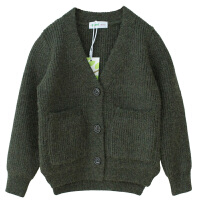 男童开衫外套针织新款秋冬儿童V领毛衣开衫外套