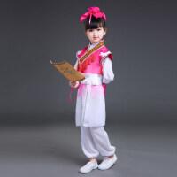 儿童六一汉服男女书童幼儿表演弟子规三字经诗词朗诵国学演出服装