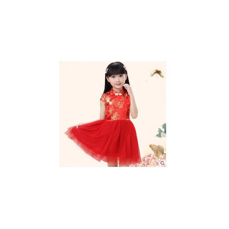 少儿民族风舞蹈演出表演服装 六一儿童节公主纱裙 幼儿园古典古装儿童