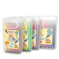 爱好可洗彩绘笔 软头笔 手提彩色笔 水彩笔 六角杆绘画笔 涂色笔 填色笔 涂画笔 多规格可选 盒装/筒装
