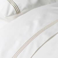 120支棉白色全棉纯棉美式床单四件套 五星级酒店床上用品 白色床单款 六件套