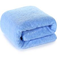 [当当自营]三利 高梳纱柔软舒适浴巾80×180cm 蓝色 不掉毛强吸水裹身巾