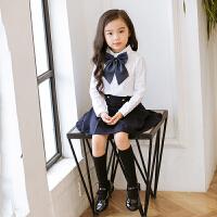 幼儿园园服儿童白色衬衫男女班服英伦学院风中小学生秋季校服春秋