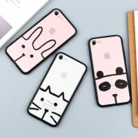 【支持礼品卡】苹果6手机壳iPhone6s可爱卡通动物7创意个性plus透明男女款潮