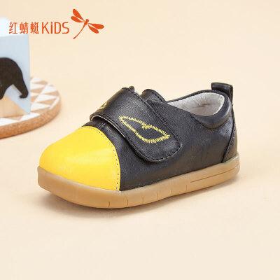 【1件2.5折后:44.75元】红蜻蜓童鞋春秋可爱小巧时尚魔术贴舒适小童男童儿童皮鞋