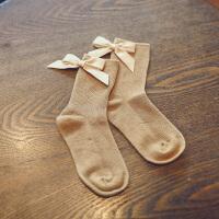蝴蝶结女童短袜秋冬季1-3-5-8岁公主宝宝儿童袜子潮