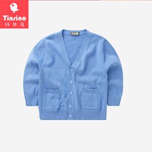 【1件3折价:62.7】纤丝鸟(TINSINO) 儿童毛衣男女童针织衫宝宝开衫针织外套