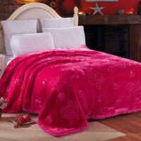 婚庆毛毯大红色结婚用毛毯喜被陪嫁10斤双人被子冬季加厚毯子