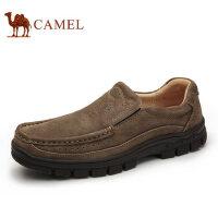 camel 骆驼男鞋秋季运动户外鞋真皮牛皮耐磨套脚舒适户外休闲男鞋