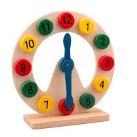 木制 彩色数字时钟 月亮时钟 幼儿早教教具益智学习