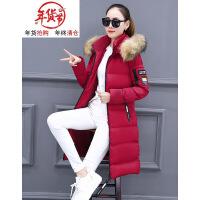 2018冬季新款大码棉衣中长款加厚韩版女士羽绒时尚棉袄外套潮