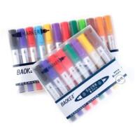 宝克彩色双头记号笔 广告涂鸦笔 多彩油性标记笔套装 马克笔 勾线笔 海报唛克笔 填色笔 8色/12色