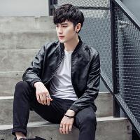 秋款新品韩版男士皮衣男修身机车PU皮夹克个性外套潮休闲男士大码夹克