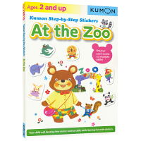 【首页抢券300-100】Kumon Step-by-Step Stickers At The Zoo 公文式教育 英语