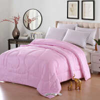 [当当自营]兰祺家纺棉花被 纯棉被子 加厚冬被 学生宿舍被芯 粉色牡丹花2.0*2.3米