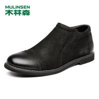 木林森男鞋 男士休闲皮鞋 秋季新款牛皮商务休闲鞋时尚正装男鞋英伦77053331