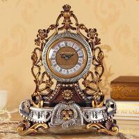 欧式台钟创意静音座钟个性坐钟客厅大摆钟石英装饰桌钟表