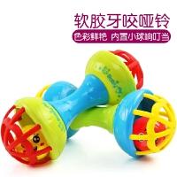 1-2岁安抚摇铃益智球形手抓球玩具新生儿童0-6-12个月3宝宝手摇铃