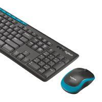 【支持当当礼卡】罗技(Logitech)MK275键鼠套装 无线键鼠套装 办公键鼠套装 全尺寸 黑蓝色 自营 带无线2.