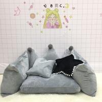 甜梦莱ins韩式皇冠公主床头靠背靠垫靠枕软包迷你单人懒人沙发豆袋