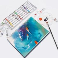 马利牌儿童水粉水彩颜料工具箱套装小学生美术色彩绘画初学者安全可水洗马力玛丽12/18/24色36色手绘涂鸦颜料