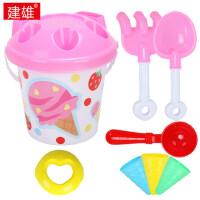 儿童沙滩玩具桶套装大号宝宝玩沙子挖沙漏铲子工具冰淇淋玩具