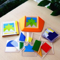 智力拼图开发想象力五颜六色空间思维拼板逻辑推理益智闯关玩具