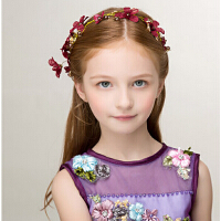 新年儿童时尚新款女童头饰 儿童婚纱礼服配饰发饰