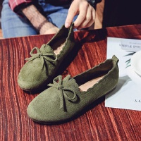 牛筋软底平底鞋单鞋一脚蹬女鞋2018夏季新款浅口镂空蝴蝶结豆豆鞋